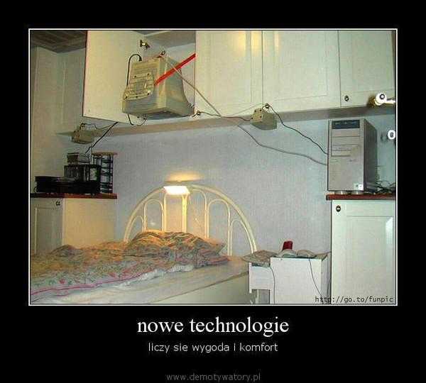 nowe technologie – liczy sie wygoda i komfort