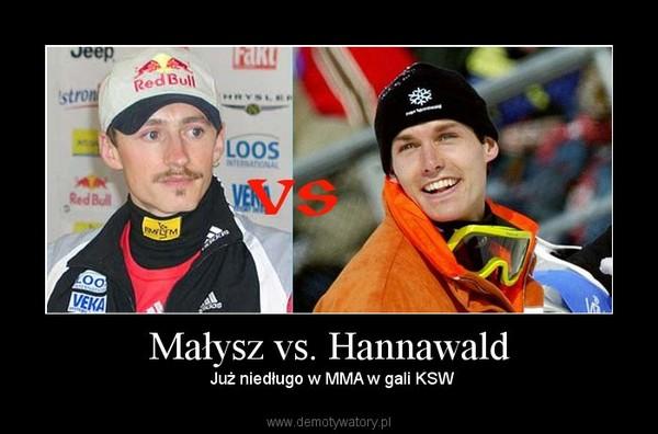 Małysz vs. Hannawald –  Już niedługo w MMA w gali KSW