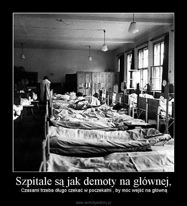 Szpitale są jak demoty na głównej, –  Czasami trzeba długo czekać w poczekalni , by móc wejść na główną