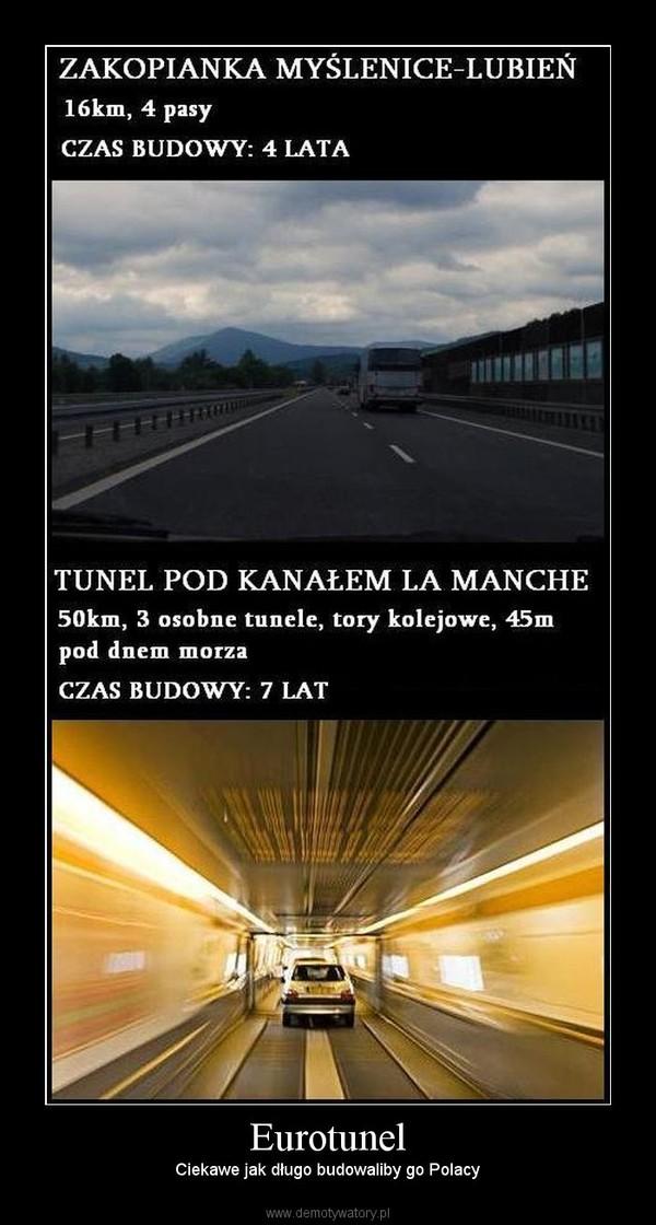 Eurotunel – Ciekawe jak długo budowaliby go Polacy
