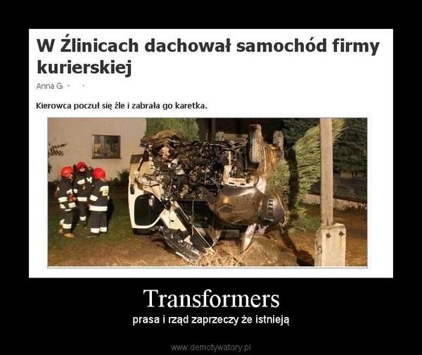 Transformers – prasa i rząd zaprzeczy że istnieją