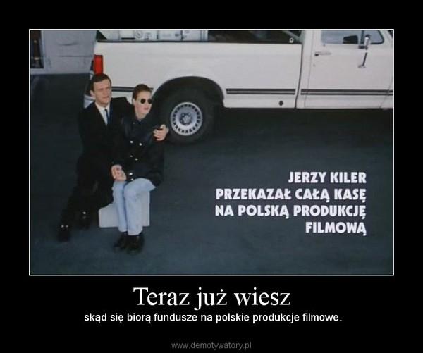 Teraz już wiesz – skąd się biorą fundusze na polskie produkcje filmowe.