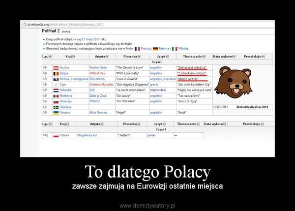 To dlatego Polacy