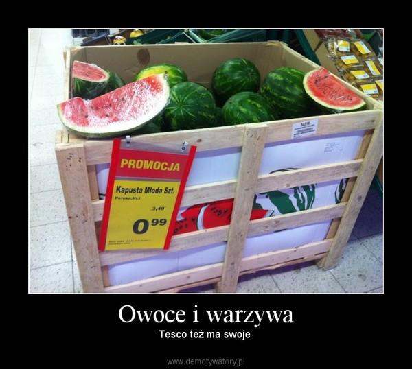 Owoce i warzywa – Tesco też ma swoje