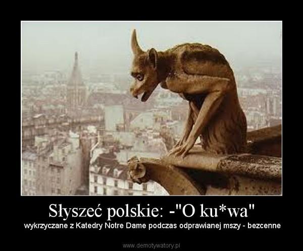 """Słyszeć polskie: -""""O ku*wa"""" – wykrzyczane z Katedry Notre Dame podczas odprawianej mszy - bezcenne"""