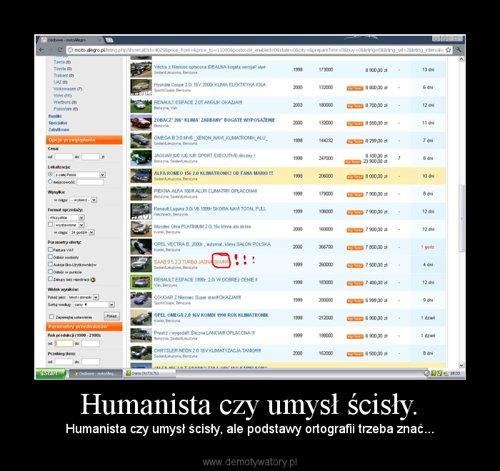 Humanista czy umysł ścisły.