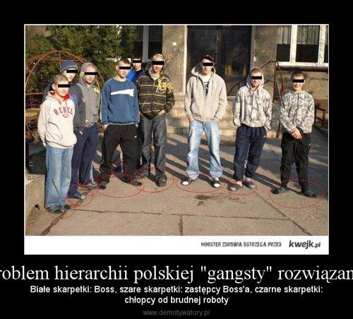 """Problem hierarchii polskiej """"gangsty"""" rozwiązany:"""