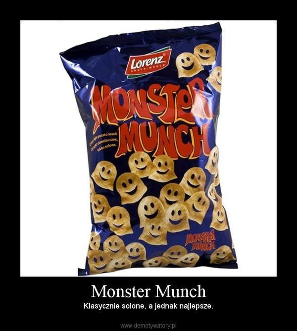Monster Munch – Klasycznie solone, a jednak najlepsze.