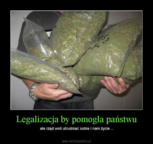 Legalizacja by pomogła państwu – ale rząd woli utrudniać sobie i nam życie ..