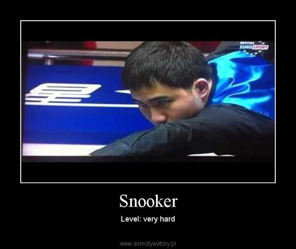 Snooker – Level: very hard