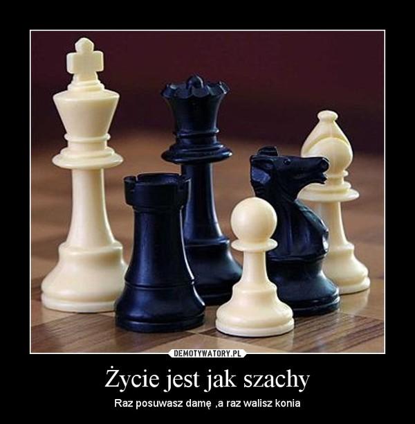 Życie jest jak szachy – Raz posuwasz damę ,a raz walisz konia