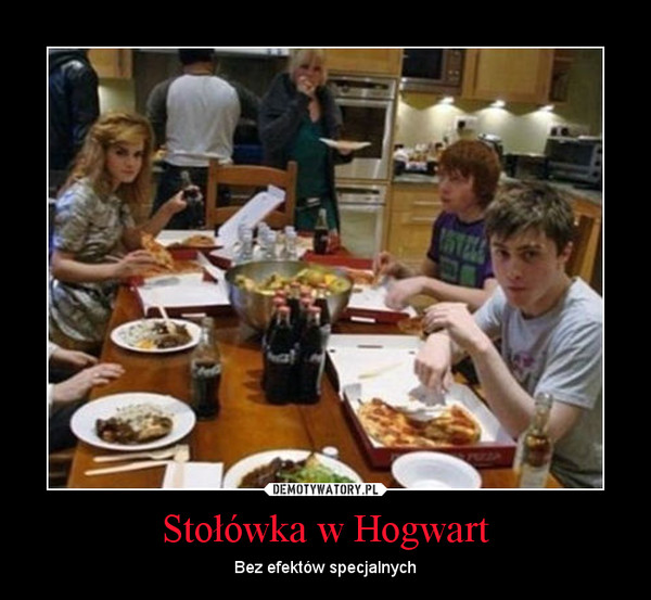 Stołówka w Hogwart – Bez efektów specjalnych
