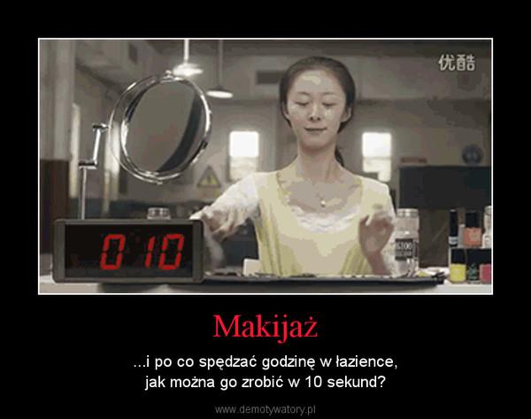 Makijaż – ...i po co spędzać godzinę w łazience,jak można go zrobić w 10 sekund?