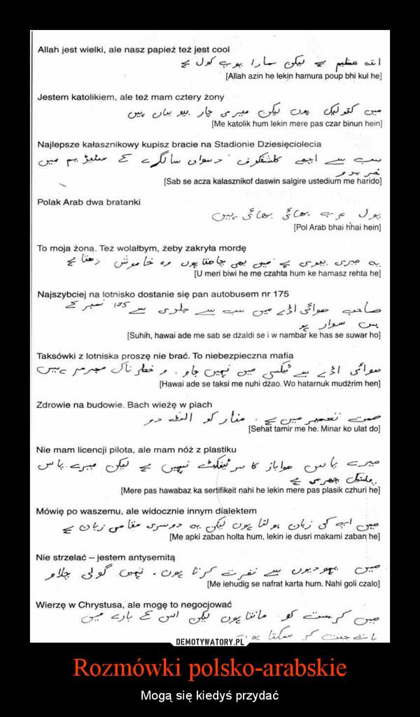Rozmówki polsko-arabskie – Mogą się kiedyś przydać