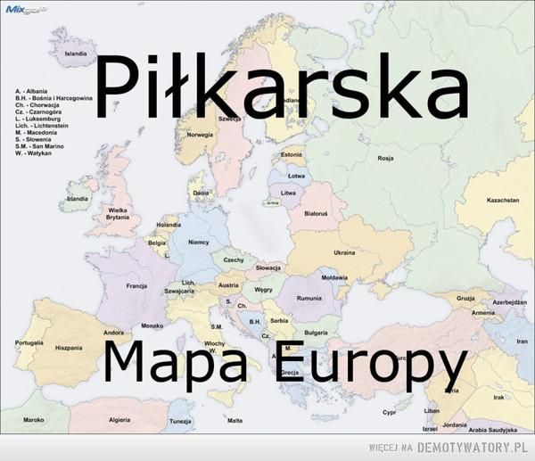 Piłkarska mapa Europy –