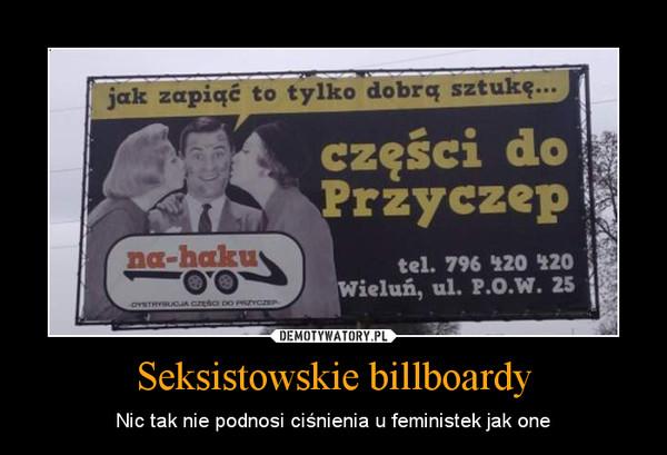Seksistowskie billboardy – Nic tak nie podnosi ciśnienia u feministek jak one