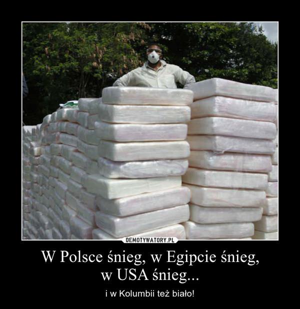 W Polsce śnieg, w Egipcie śnieg,w USA śnieg... – i w Kolumbii też biało!