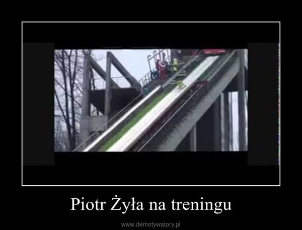 Piotr Żyła na treningu –