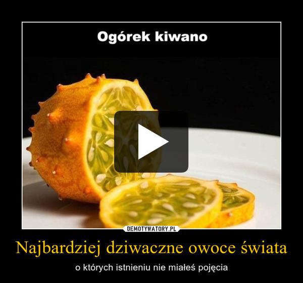 Najbardziej dziwaczne owoce świata – o których istnieniu nie miałeś pojęcia