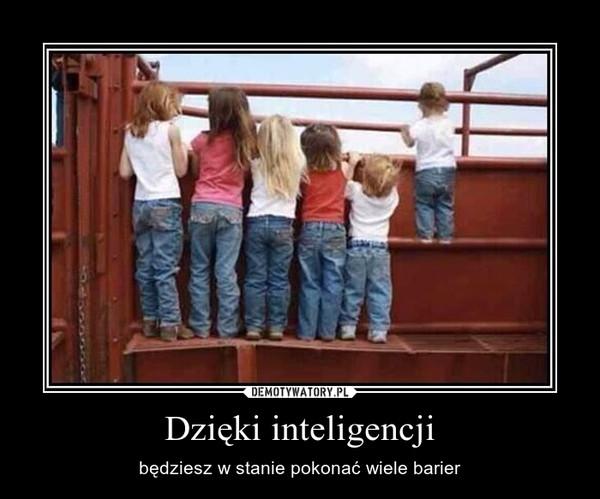Dzięki inteligencji – będziesz w stanie pokonać wiele barier
