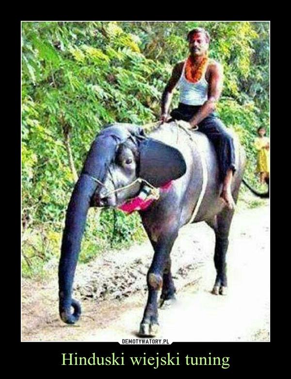 Hinduski wiejski tuning –