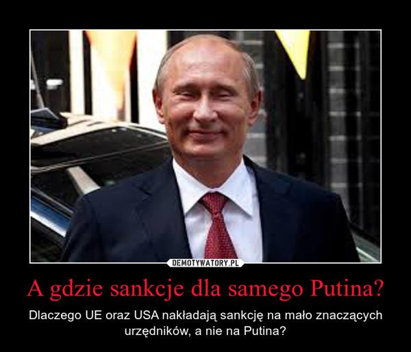 A gdzie sankcje dla samego Putina? – Dlaczego UE oraz USA nakładają sankcję na mało znaczących urzędników, a nie na Putina?