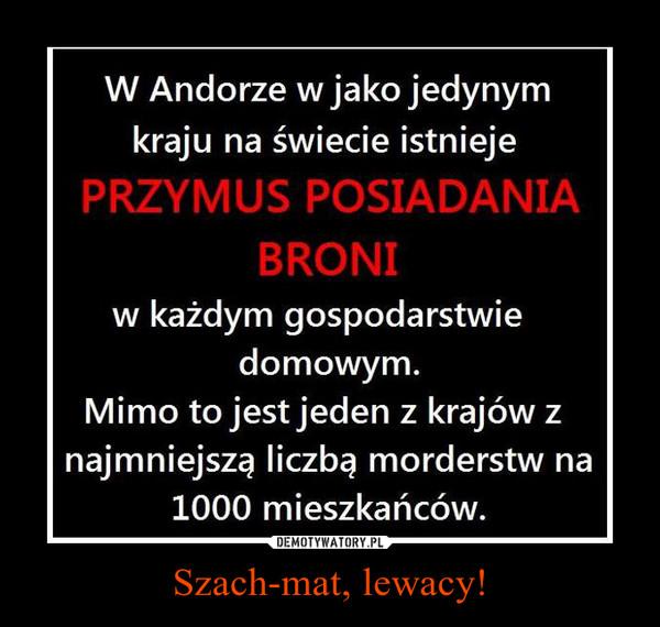 Szach-mat, lewacy! –
