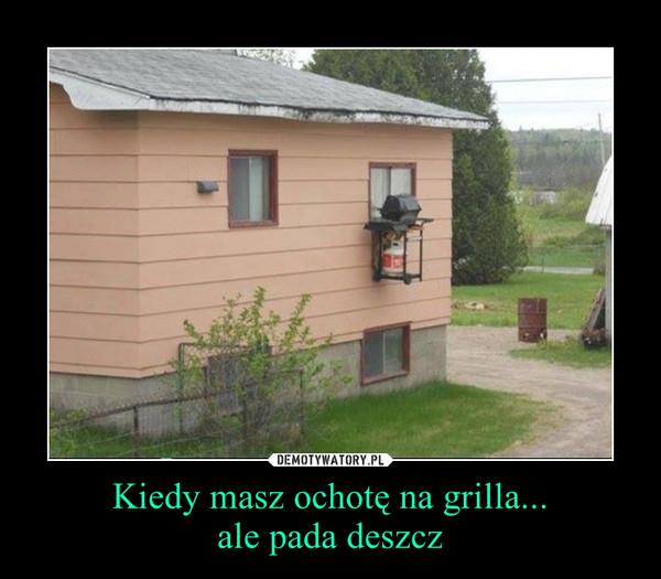 Kiedy masz ochotę na grilla...ale pada deszcz –