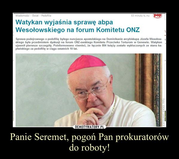 Panie Seremet, pogoń Pan prokuratorów do roboty! –