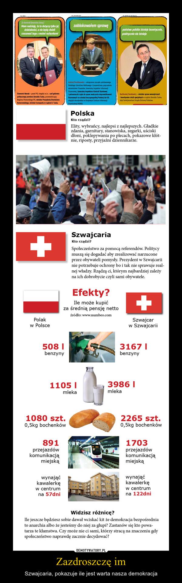 Zazdroszczę im – Szwajcaria, pokazuje ile jest warta nasza demokracja