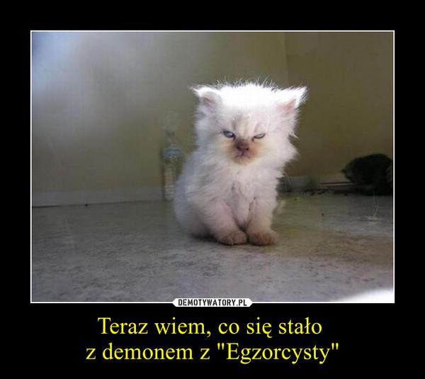 """Teraz wiem, co się stało z demonem z """"Egzorcysty"""" –"""