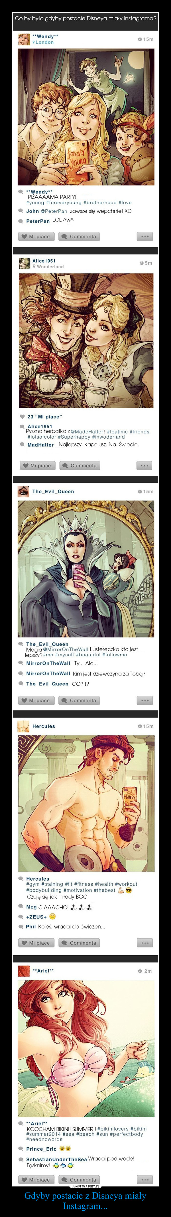 Gdyby postacie z Disneya miały Instagram... –