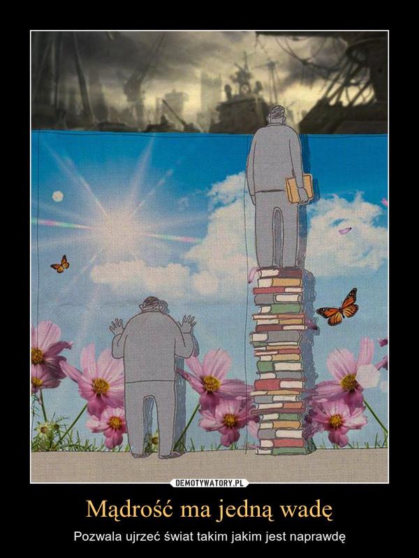 Mądrość ma jedną wadę