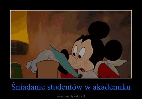 Śniadanie studentów w akademiku –