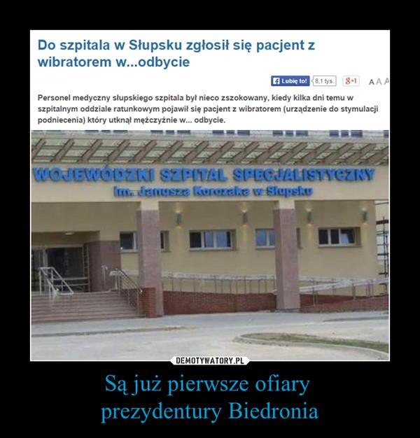 Są już pierwsze ofiary prezydentury Biedronia –