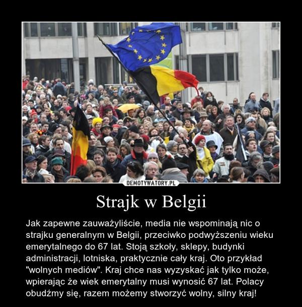 Strajk w Belgii