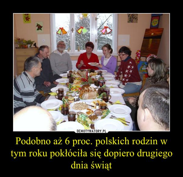 Podobno aż 6 proc. polskich rodzin w tym roku pokłóciła się dopiero drugiego dnia świąt –