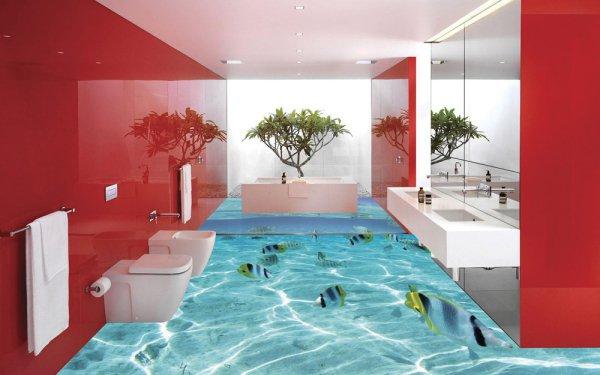 15 Pomysłowych Podłóg 3d Które Chciałbyś Mieć W Swojej łazience
