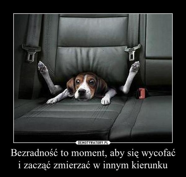 Bezradność to moment, aby się wycofaći zacząć zmierzać w innym kierunku –