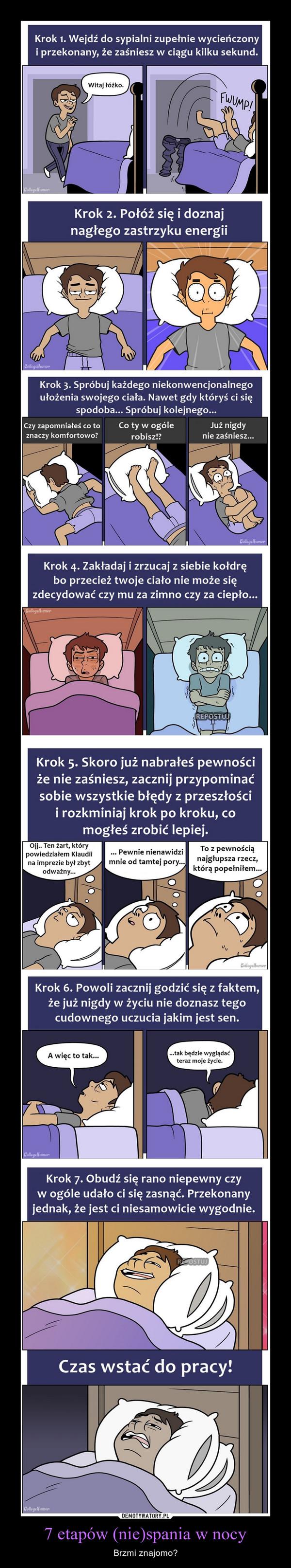 7 etapów (nie)spania w nocy – Brzmi znajomo?
