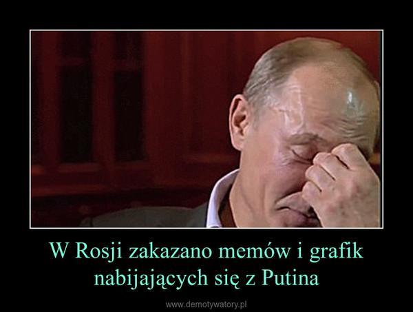 W Rosji zakazano memów i grafik nabijających się z Putina –