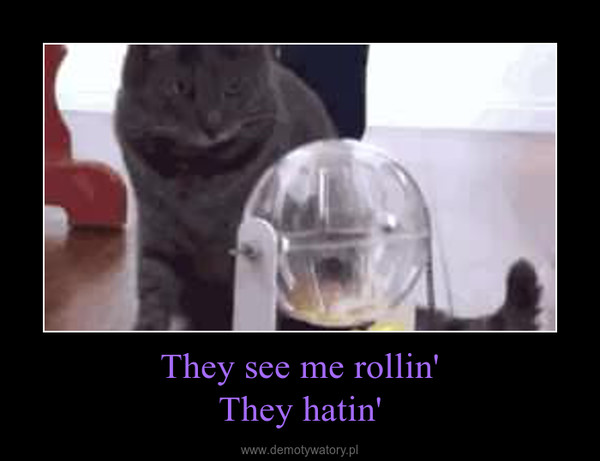They see me rollin'They hatin' –