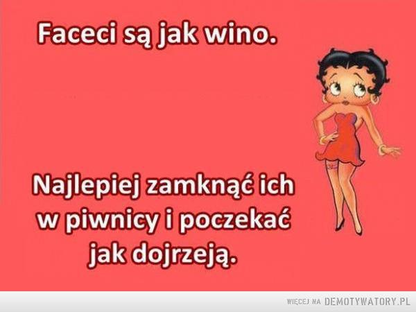 Faceci są jak wino –