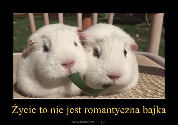 Życie to nie jest romantyczna bajka –