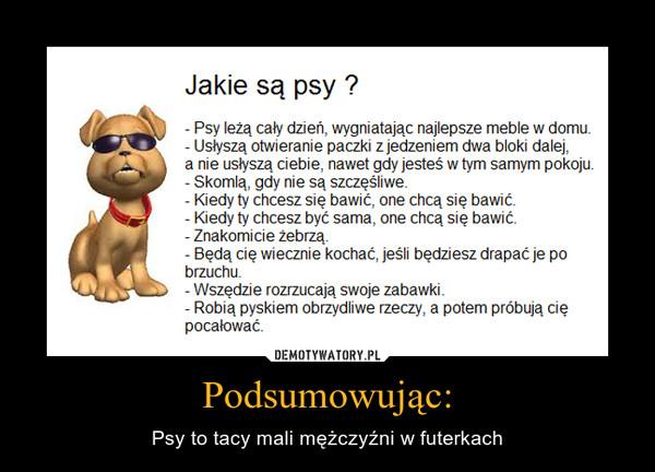 Podsumowując: – Psy to tacy mali mężczyźni w futerkach