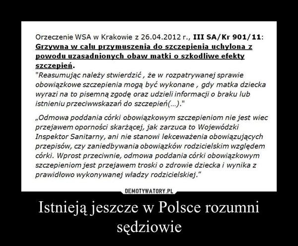 Istnieją jeszcze w Polsce rozumni sędziowie –