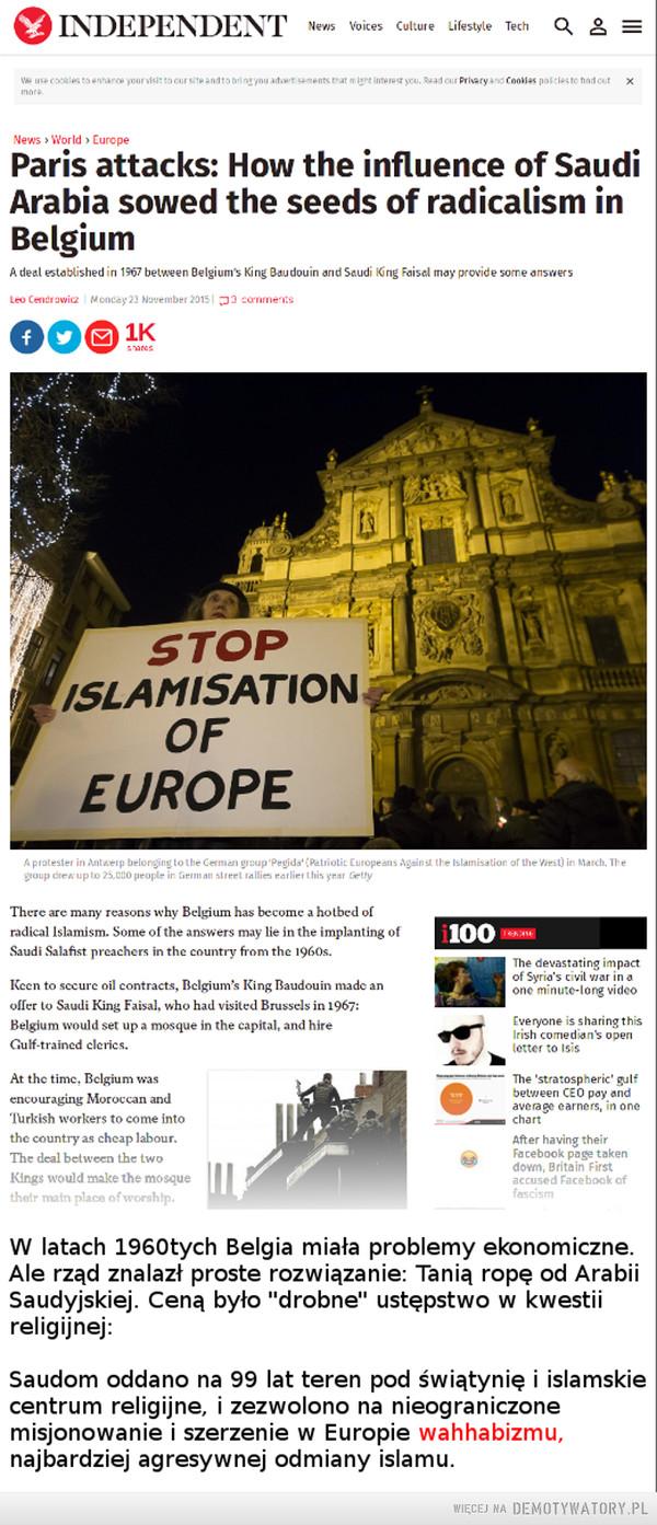 Skąd się wzięli belgijscy terroryści? –