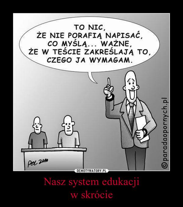 Nasz system edukacjiw skrócie –