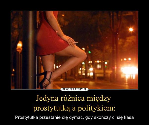 Jedyna różnica między prostytutką a politykiem: – Prostytutka przestanie cię dymać, gdy skończy ci się kasa