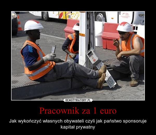 Pracownik za 1 euro – Jak wykończyć własnych obywateli czyli jak państwo sponsoruje kapitał prywatny